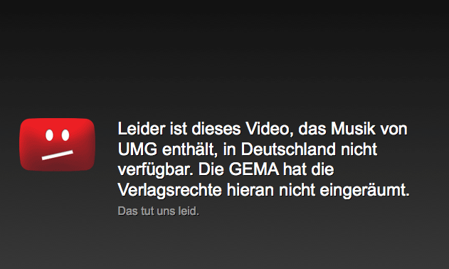 Eure Meinung: GEMA kills the Internet Star?